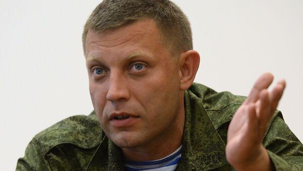 Alexandr Zajárchenko, primer ministro de la autoproclamada República Popular de Donetsk (RPD) - Sputnik Mundo