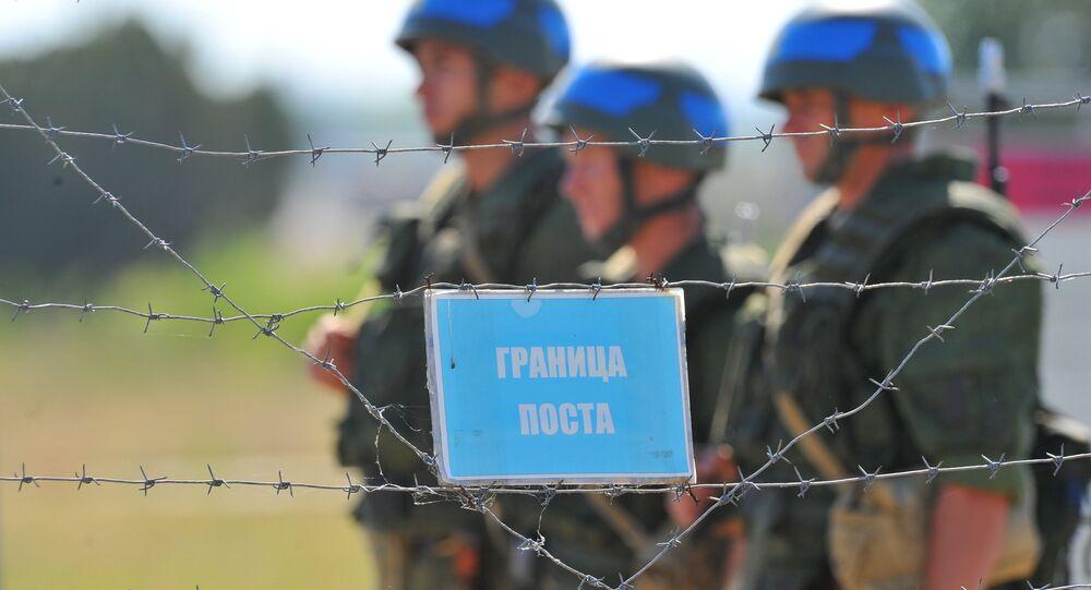 Pacificadores rusos en Transnistria (archivo)