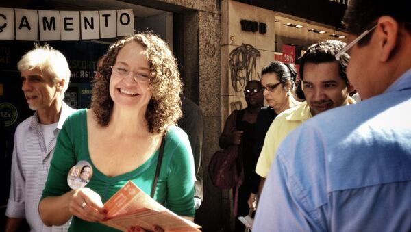 Luciana Genro, candidata a la presidencia de Brasil por el Partido Socialismo y Libertad (PSOL) - Sputnik Mundo