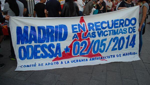 Concentración en Madrid en recuerdo de la tragedia de Odesa - Sputnik Mundo