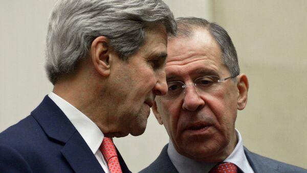 John Kerry y Serguéi Lavrov (Archivo) - Sputnik Mundo