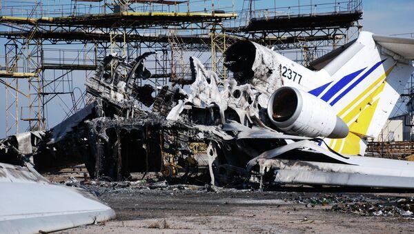 Ruinas del aeropuerto de Donetsk, destruido durante los combates en la región - Sputnik Mundo