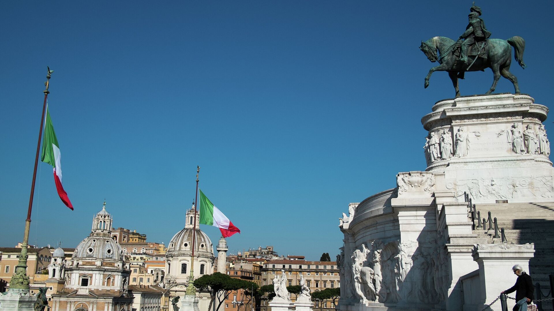 La plaza Venecia en Roma, Italia - Sputnik Mundo, 1920, 14.05.2021