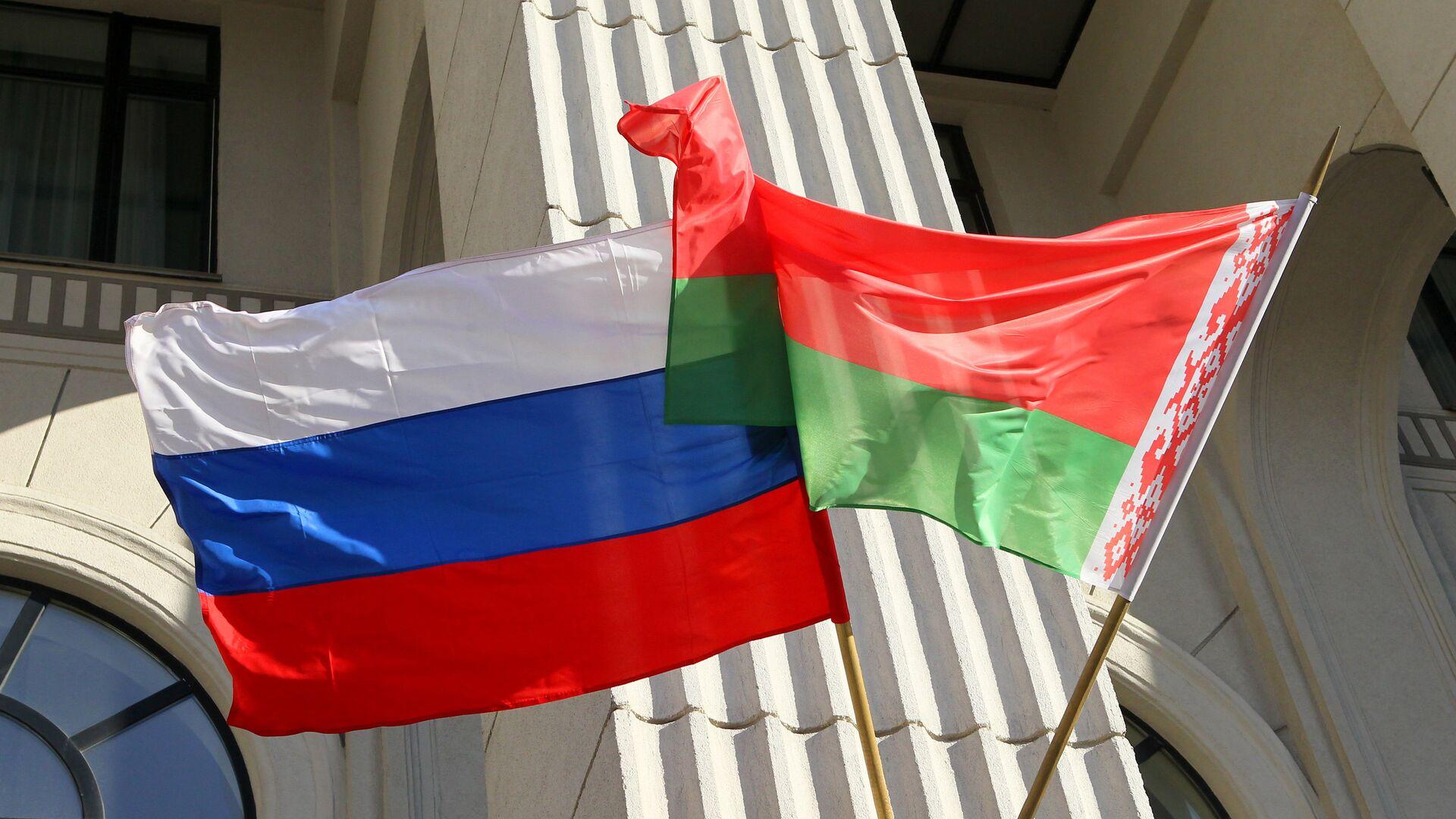 Флаги России и Белоруссии. Архив   - Sputnik Mundo, 1920, 23.06.2021