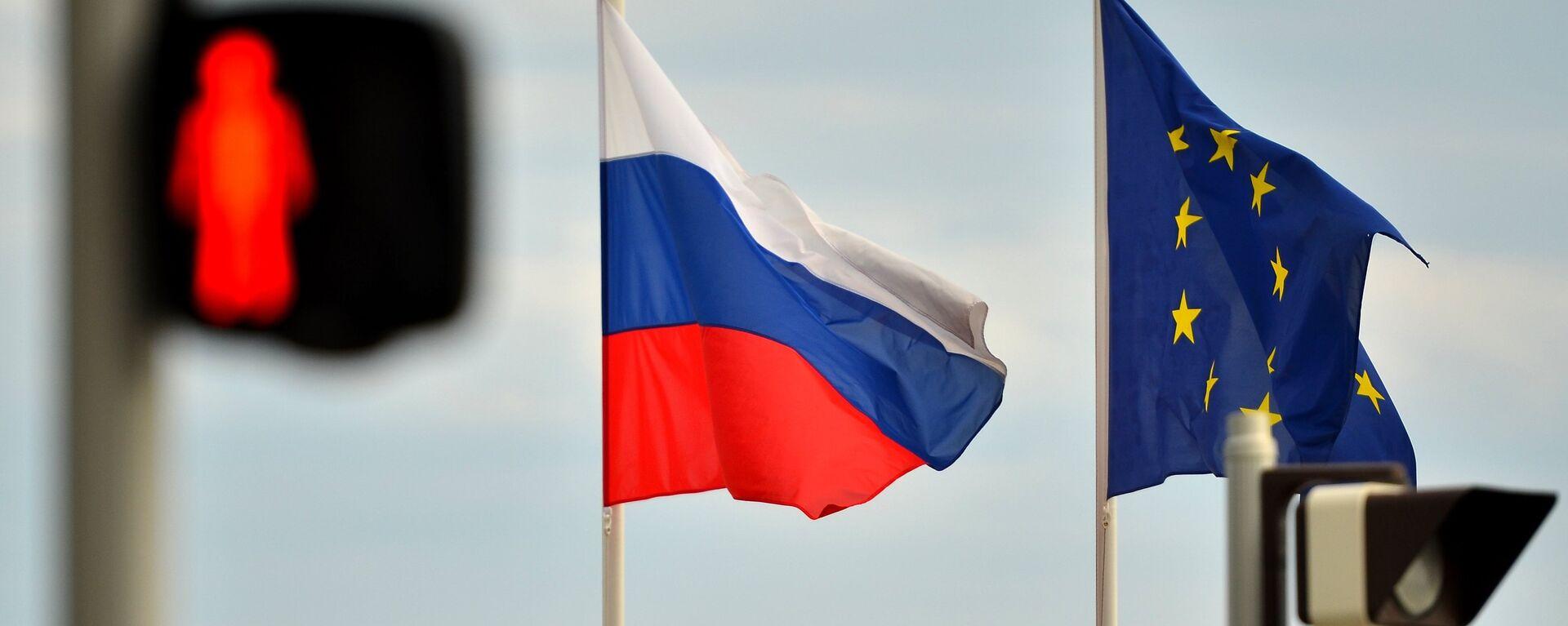 Banderas de Rusia y la UE - Sputnik Mundo, 1920, 08.04.2021