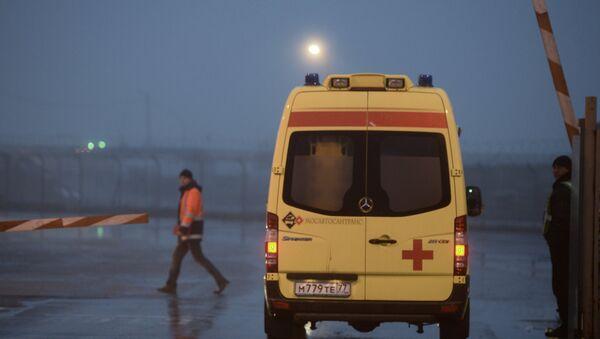 El lugar del accidente del avión Falcon en el aeropuerto Vnúkovo - Sputnik Mundo