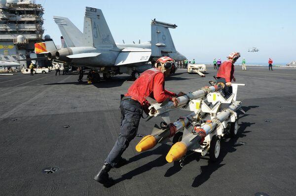 La Fuerza Aérea de EEUU y su coalición lanzan más de 20 ataques contra el EI en Irak - Sputnik Mundo