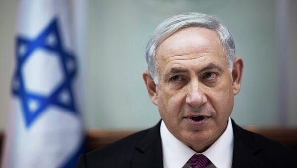 Премьер-министр Израиля Биньямин Нетаньяху во время заседания кабинета министров в Иерусалиме 26 октября 2014 - Sputnik Mundo