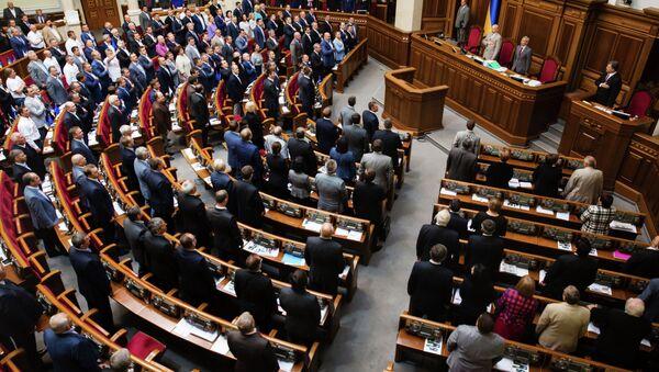 El partido del primer ministro de Ucrania obtiene 64 escaños en la Rada - Sputnik Mundo