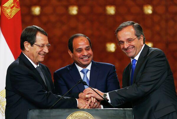 Líderes de Chipre, Egipto y Grecia - Sputnik Mundo