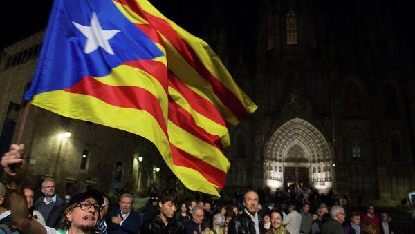 Manifestación por la independencia de Cataluña en Barcelona (archivo) - Sputnik Mundo