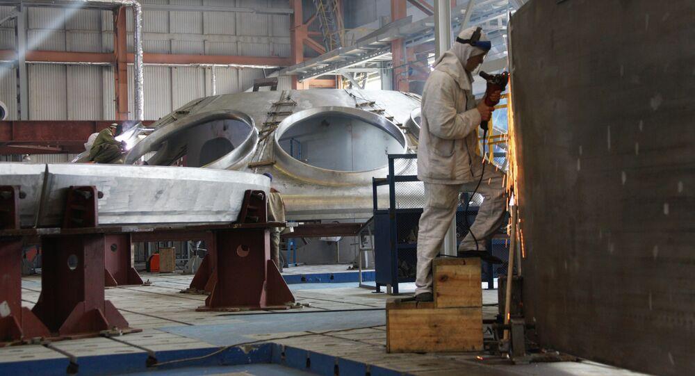 Fabricación de un reactor nuclear en Rusia
