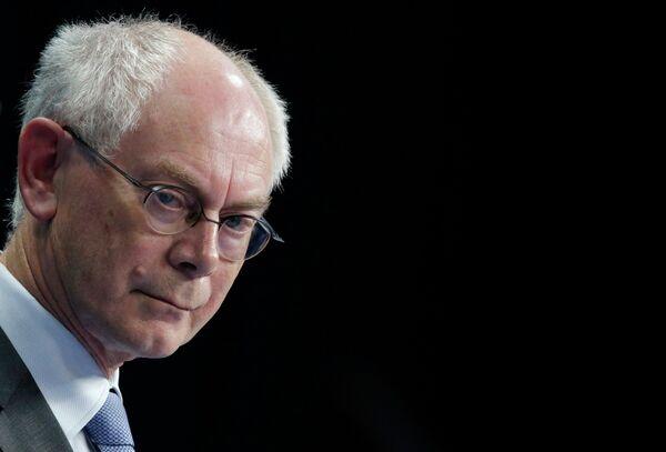 Herman Van Rompuy, presidente del Consejo Europeo - Sputnik Mundo