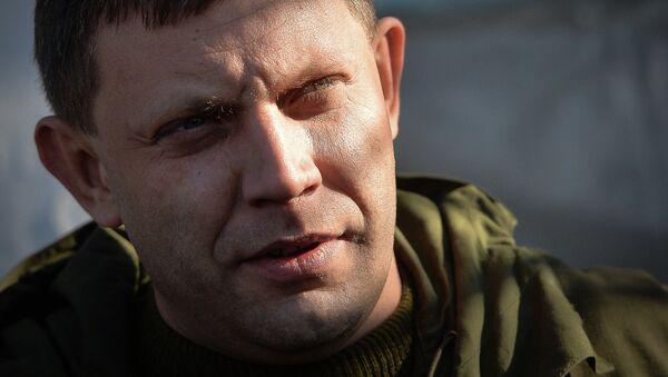 Alexandr Zajárchenko, jefe de la autoproclamada República Popular de Donetsk (RPD - Sputnik Mundo