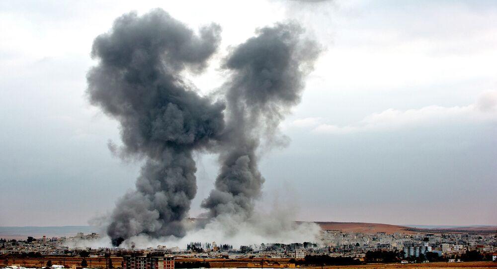 Bombardeos aéreos de la coalición liderada por EEUU en Siria