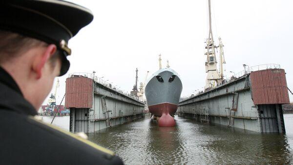 Almirante Gorshkov, primera fragata del proyecto 22350 - Sputnik Mundo