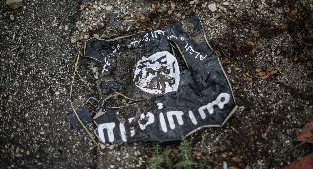 Bandera del grupo terrorista Estado Islámico