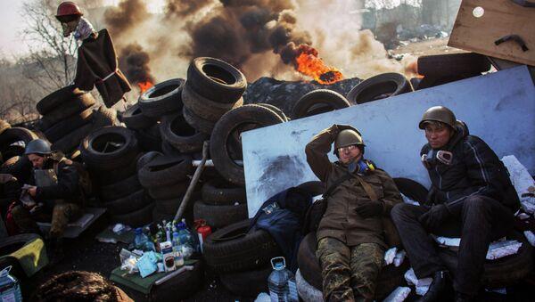 Manifestaciones de protesta en Kiev (archivo) - Sputnik Mundo