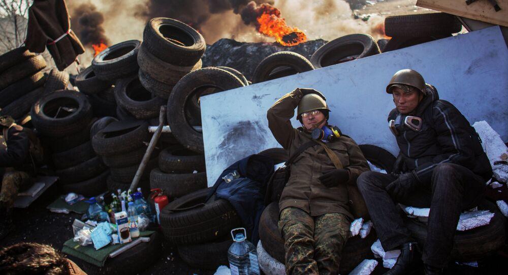 Manifestaciones de protesta en Kiev (archivo)