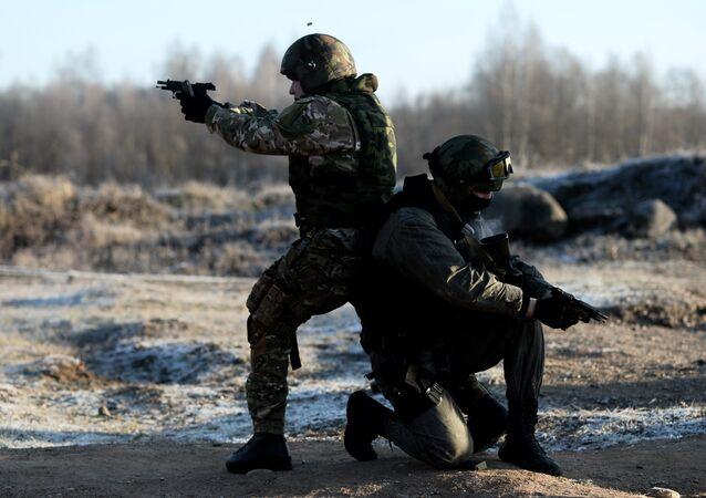 Las fuerzas de seguridad en Daguestán, Rusia (archivo)