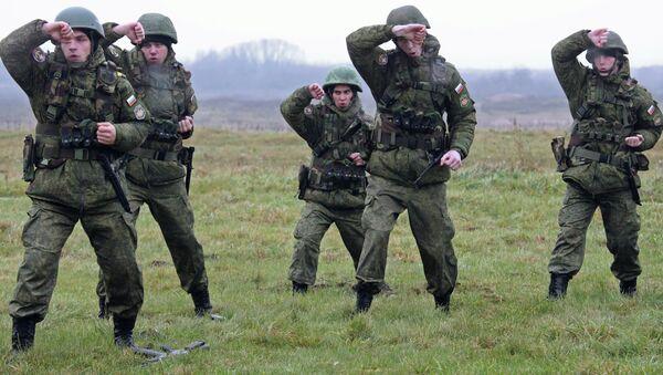 Militares de la Flota del Báltico durante unos ejercicios (archivo) - Sputnik Mundo