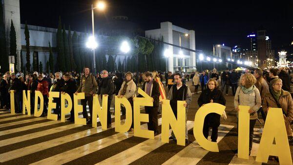 Митинг в поддержку независимости Каталонии в Барселоне - Sputnik Mundo