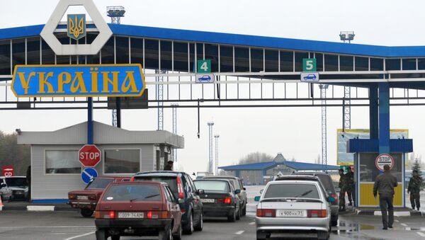 Punto de control fronterizo entre Rusia y Ucrania - Sputnik Mundo