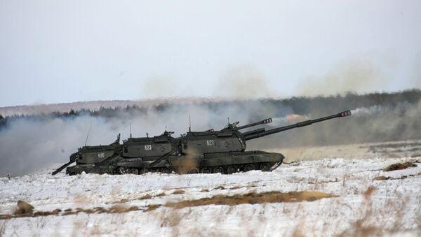 Unidad de artillería autopropulsada Msta-S - Sputnik Mundo