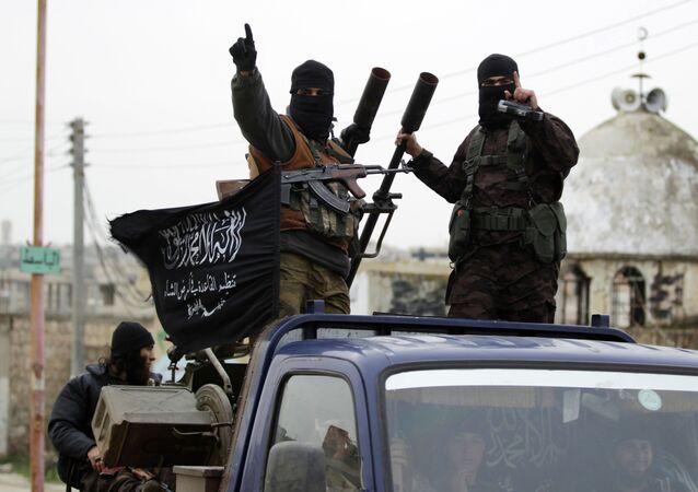 Extremistas del grupo yihadista Frente al Nusra