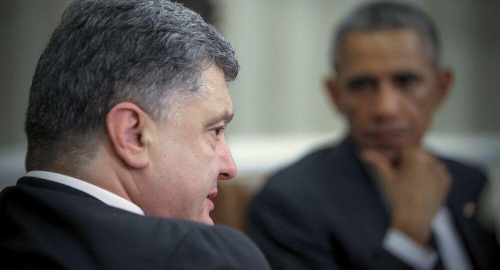 Presidente de Ucrania, Petró Poroshenko y presidente de EEUU, Barack Obama